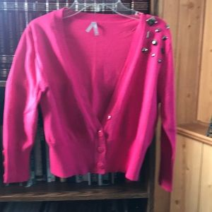 Pink crop cover sweater